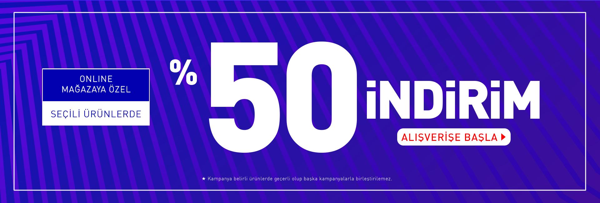 % 50 Dagi Online Satış İndirimi