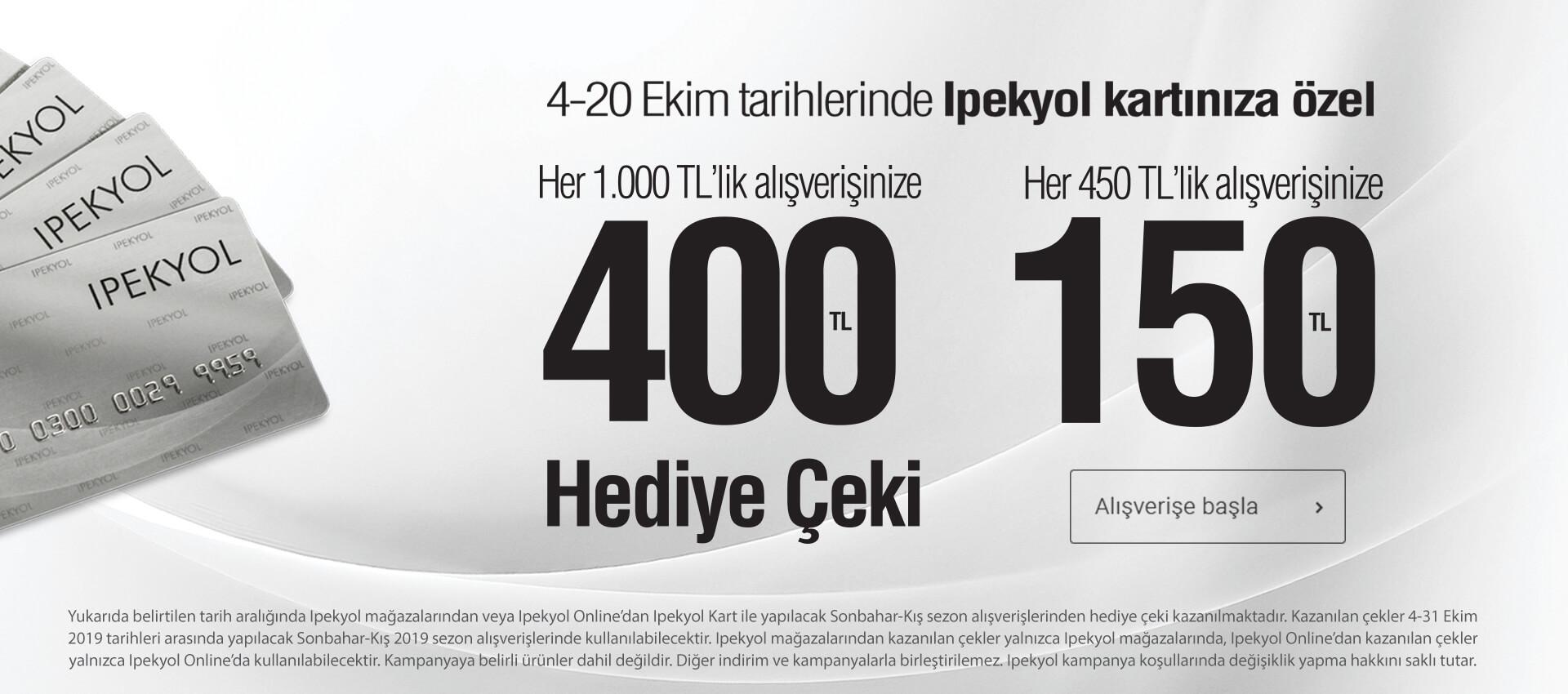 400 TL İpekyol Hediye Çeki