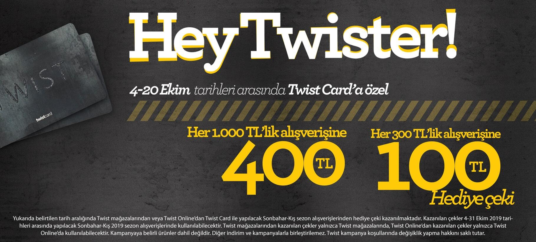 400 TL Twist Hediye Çeki