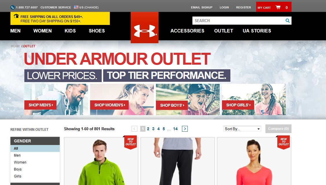 % 35 Under Armour Outlet İndirimi