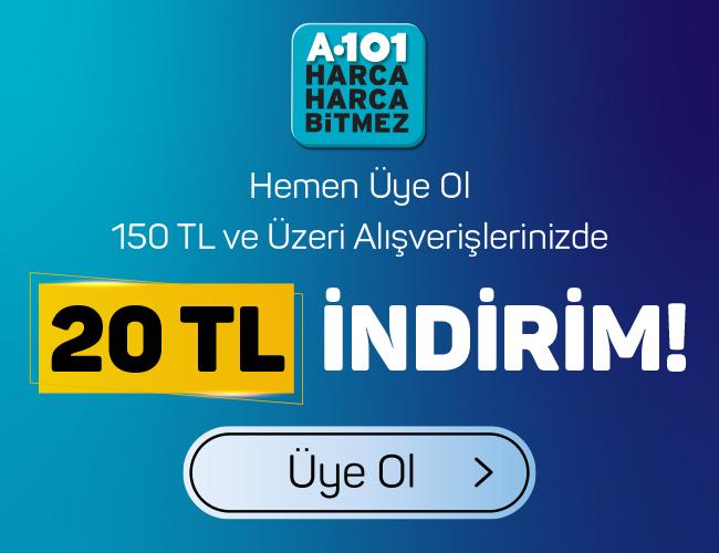 20 TL A101 İndirim Kuponu