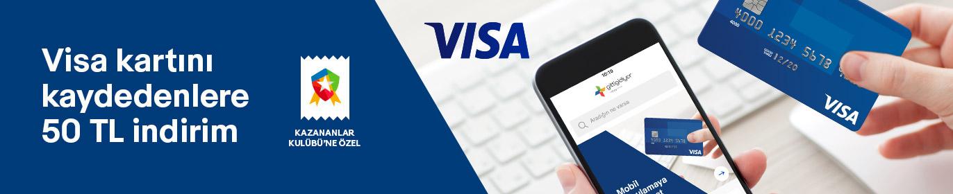 50 TL GittiGidiyor Visa İndirimi